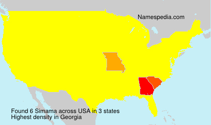 Surname Simama in USA