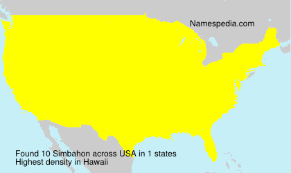 Surname Simbahon in USA