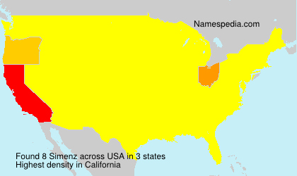 Surname Simenz in USA