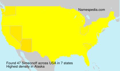 Familiennamen Simeonoff - USA