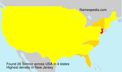 Surname Simnor in USA