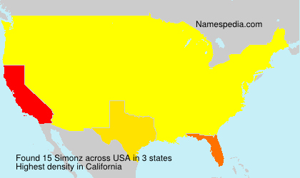 Surname Simonz in USA