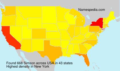 Surname Simson in USA