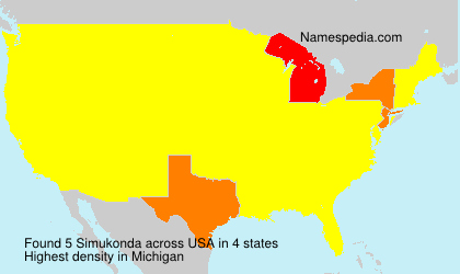 Surname Simukonda in USA