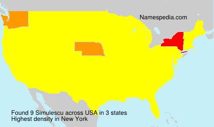 Surname Simulescu in USA