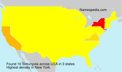 Surname Simunyola in USA