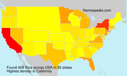 Surname Sina in USA