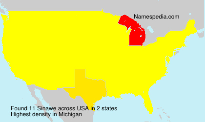 Surname Sinawe in USA