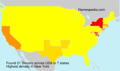 Surname Sincero in USA