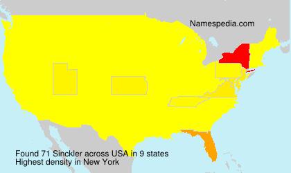 Surname Sinckler in USA