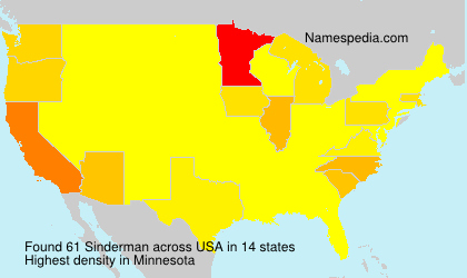 Surname Sinderman in USA