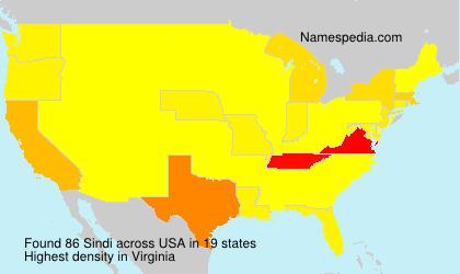 Surname Sindi in USA