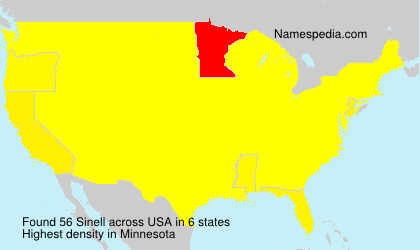 Surname Sinell in USA