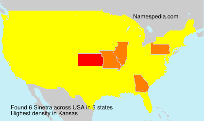 Familiennamen Sinetra - USA