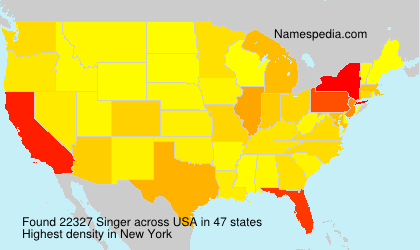 Surname Singer in USA