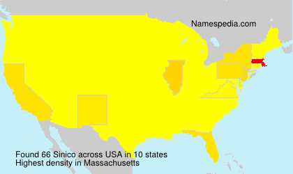 Surname Sinico in USA