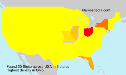 Surname Sinito in USA