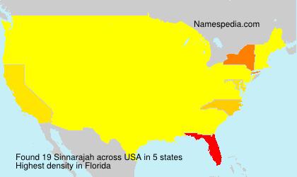 Surname Sinnarajah in USA