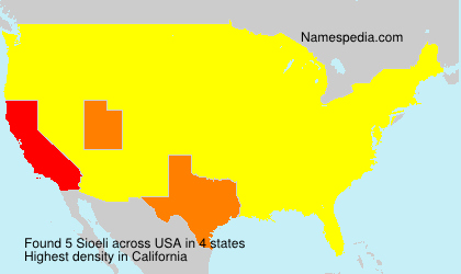 Surname Sioeli in USA