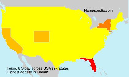 Familiennamen Sipay - USA