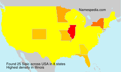Surname Sipic in USA