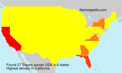 Surname Siques in USA