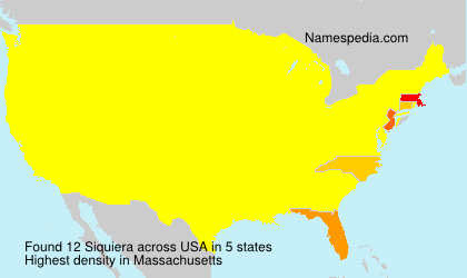 Surname Siquiera in USA