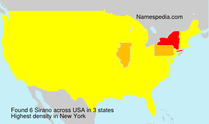 Familiennamen Sirano - USA