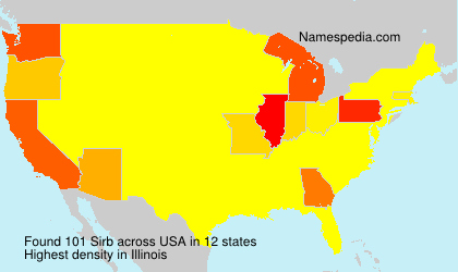 Surname Sirb in USA