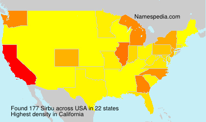 Surname Sirbu in USA