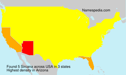 Surname Sircana in USA