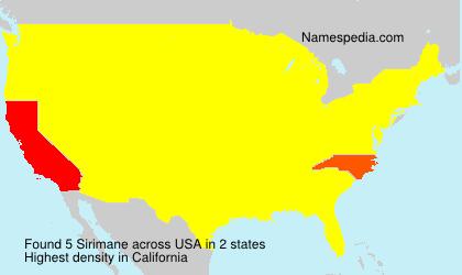 Familiennamen Sirimane - USA