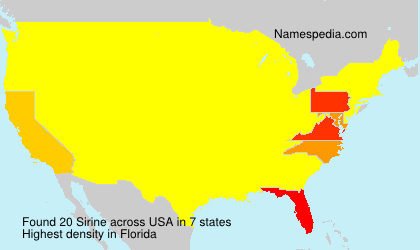 Surname Sirine in USA