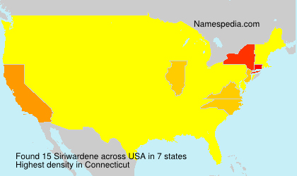 Surname Siriwardene in USA