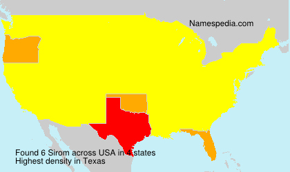 Surname Sirom in USA