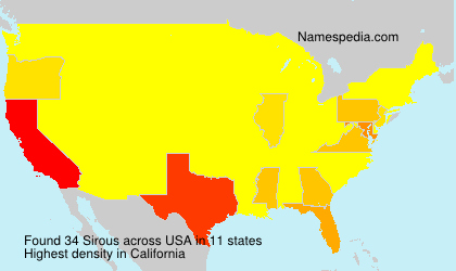 Surname Sirous in USA