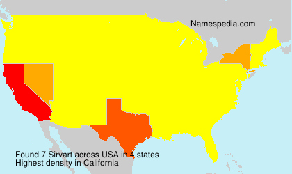 Surname Sirvart in USA