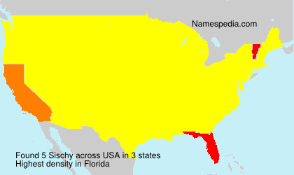 Surname Sischy in USA