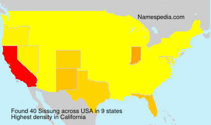 Surname Sissung in USA