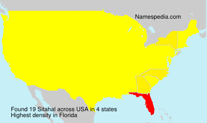 Surname Sitahal in USA