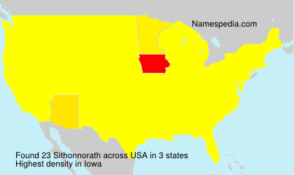 Surname Sithonnorath in USA