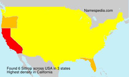 Surname Sittrop in USA