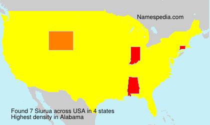 Surname Siurua in USA