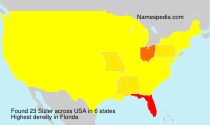 Surname Sizler in USA