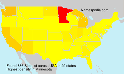 Surname Sjoquist in USA