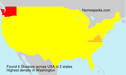 Surname Skaanes in USA