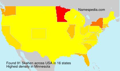 Surname Skahen in USA