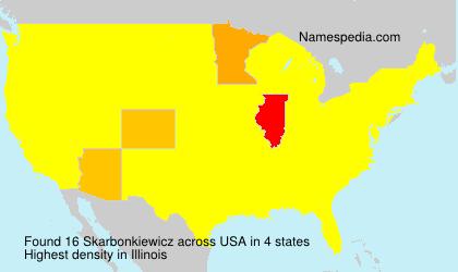 Surname Skarbonkiewicz in USA