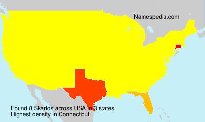 Surname Skarlos in USA