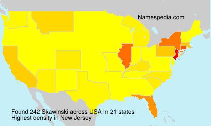 Surname Skawinski in USA